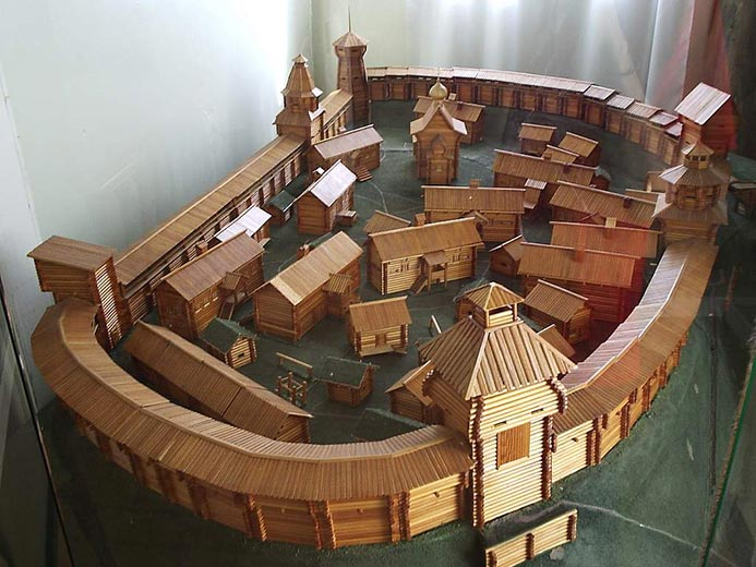 Деревянный макет крепости своими руками