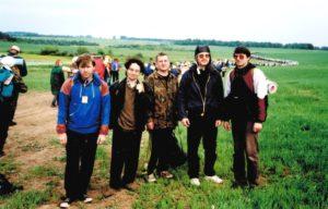 Наша редакция на Великорецком ходе, июнь 2000 г. Сергей Иванов - в центре