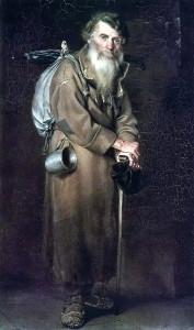 С картины В.Г.Перова Странник. 1870