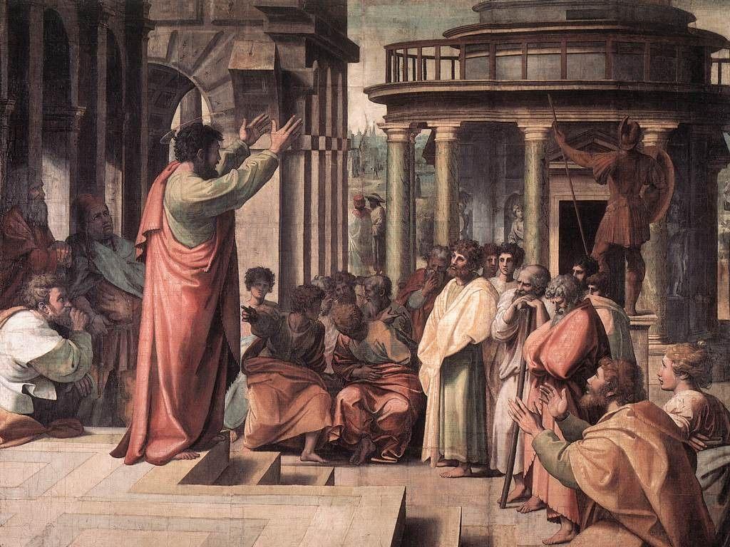 1.Рафаэль. Проповедь апостола Павла в Афинах. 1515