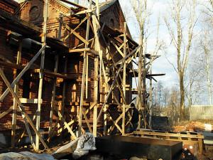 Строящийся храм с.Цвылево в имя подвигов Советского народа в Великой отечественной войне