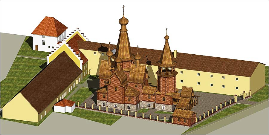 Таким видят свой храм в скиту Св.  Елизаветы