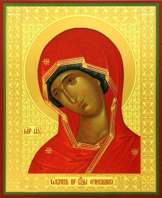 Образ иконы Божией Матери 'Огневидная'