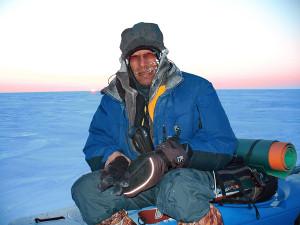 Николай Рочев в лыжном путешествии по Карскому морю
