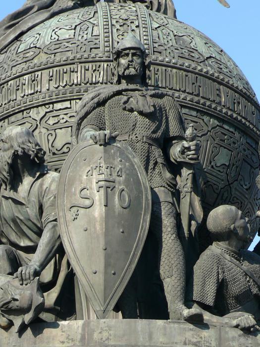 Рюрик на памятнике «Тысячелетие России»