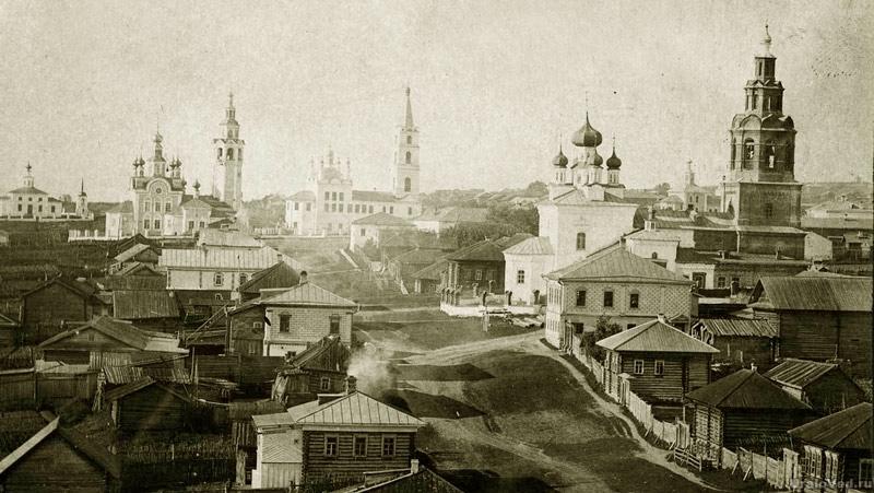 Вот как выглядел городок Чердынь с населением, не достигавшим 5 тыс
