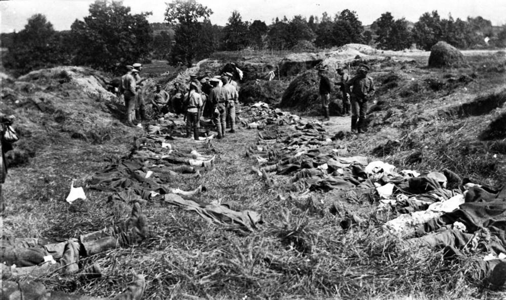 116 погибших во время газовой атаки у Крево 9 августа 1916 года