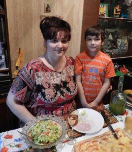 Елена Чучкалова с сыном