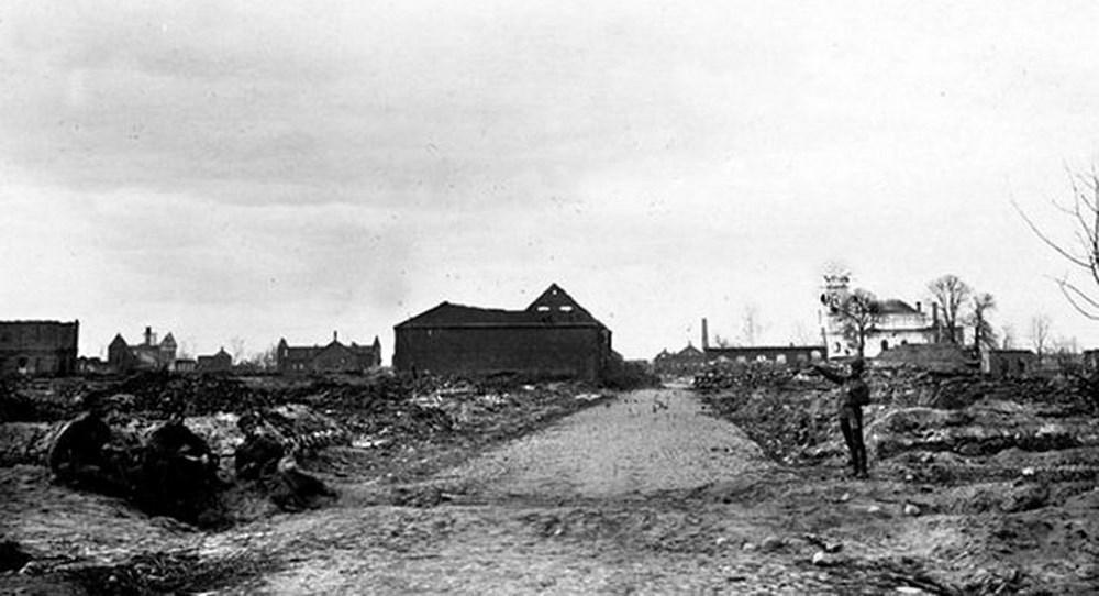 Главная улица Сморгони. Апрель 1917-го