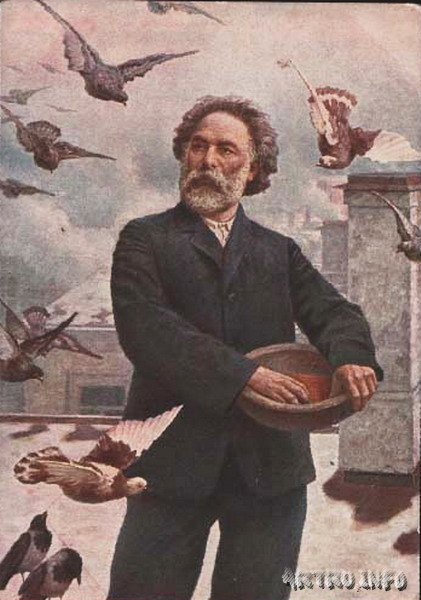 Портрет А. И. Куинджи. Картина его ученика Г. О. Калмыкова, 1910 г.