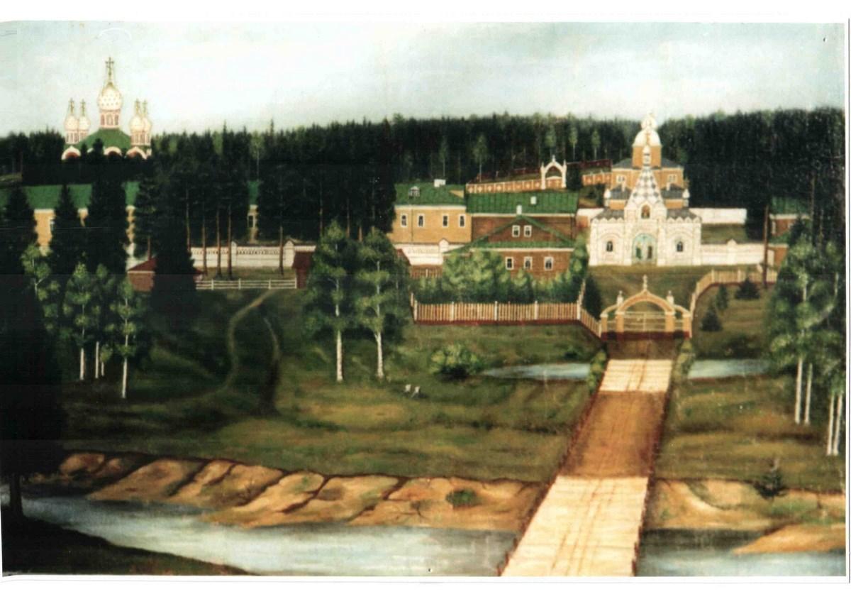 Картина, написанная монахинями Кылтовского монастыра незадолго до его закрытия в 1918 г. Монастырь был открыт вновь в 1995 г.